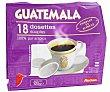 Café molido tueste natural de origen Guatemala en cápsulas compatibles con Senseo (100% arábica) 18 uds Auchan