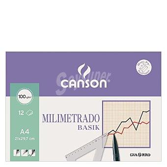 Canson Papel Dibujo Minipack Milimetrado A4 10 ud