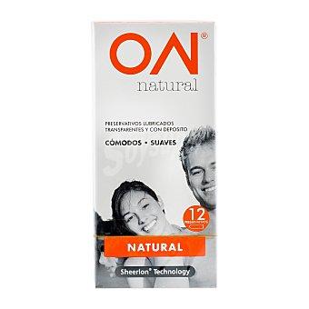ON Preservativo sensacion natural (finos) Paquete 12 u