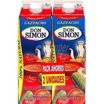 Don Simón Gazpacho tradicional natural pack 2 envase 1 l Pack 2 envase 1 l