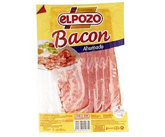 ElPozo Bacon ahumado, sin gluten ni lactosa, cortado en finas lonchas 120 gr