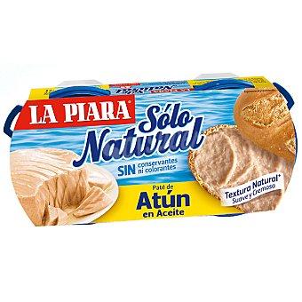 La Piara Paté de atún en aceite de girasol Sólo natural Pack 2 lata 75 g neto escurrido