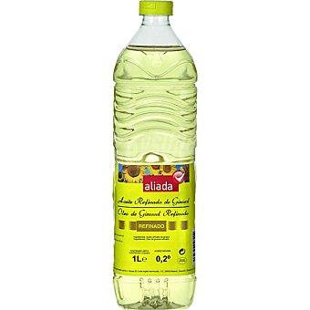 Aliada Aceite refinado de de girasol 0,2º Botella 1 l