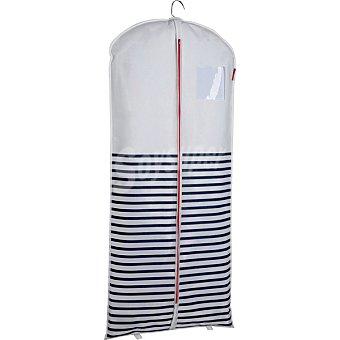 COMPACTOR Funda Para abrigos en color blanco y marino