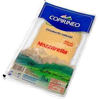 Copirineo Queso mozzarella en lonchas Bandeja 200 g