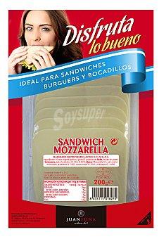 Carrefour Queso de barra mozzarella loncheado 200 g