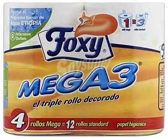 FOXY Papel higiénico 12 rollos