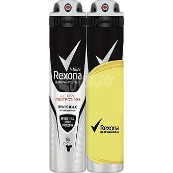 Rexona Men desodorante Active Protection Invisible anti-transpirante 2 spray 200 ml 2 spray 200 ml