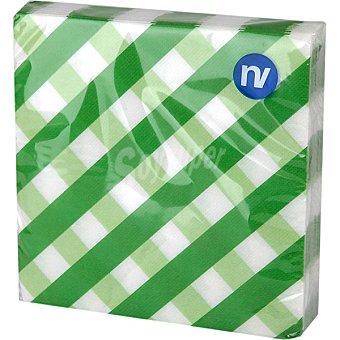NV CORPORACION Servilletas de cuadros verdes 33x33 cm Paquete 20 unidades