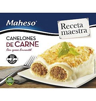 Maheso Canelones de carne con queso emmental envase 300 g Envase 300 g