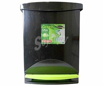 ARAVEN Grenen-Line Cubo de pedal negro-verde 25 Litros 1 Unidad