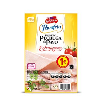 Pavofrío Campofrío Pechuga de pavo lonchas Envase 90 gr