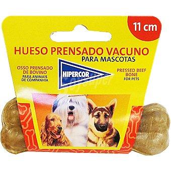 Hipercor Hueso vacuno prensado 11 cm para perro Paquete 1 unidad