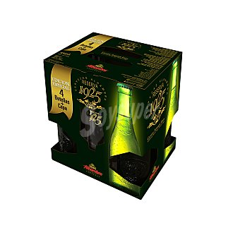 ALHAMBRA Reserva 1925 Cerveza rubia pack 4 botellas 33 cl Pack 4 botellas 33 cl