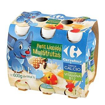 Carrefour Petit para beber multifrutas Pack de 6x100 gr