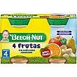 tarrito de cuatro frutas sin gluten y sin azúcares añadidos pack 2 tarro 130 g Beech-Nut