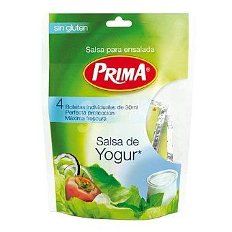 Prima Salsa para ensalada sin gluten yogur Pack de 4x30 ml