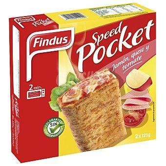 Findus Speed pocket de jamón york queso y tomate  2 unidades de 125 g