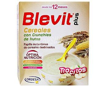 BLEVIT Plus Papilla instantánea de cereales con trocitos de fruta crujiente a partir de 12 meses 600 gramos