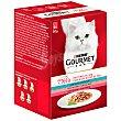 Gourmet Mon petit alimento para gatos con atún/salmón/trucha caja 6 x 50 gr Gourmet