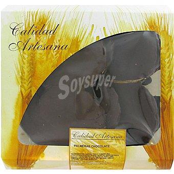 Hipercor palmera de chocolate producción propia bandeja 300 g 3 unidades