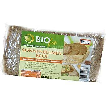 WEPU BIOFIT Sonnenblumen Brot pan integral de centeno con granos de girasol envase 500 g Envase 500 g