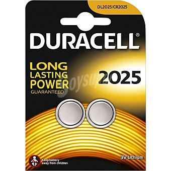 Duracell Pila de litio 3V especial 2025 blister 2 unidades