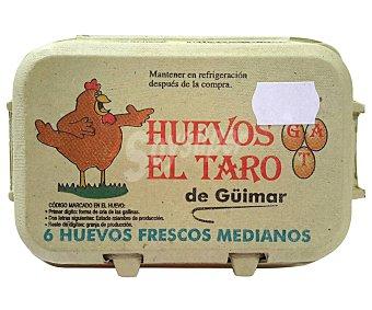 El taro Huevos frescos medianos clase M 6 uds
