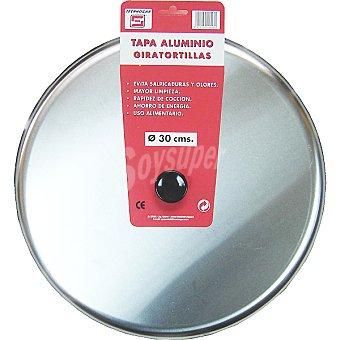 TECNHOGAR Tapa de aluminio giratortillas de 30 cm 1 Unidad