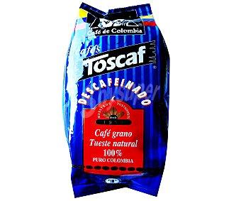 Toscaf Café en grano descafeinado 100% Colombia 500 Gramos
