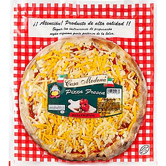 CASA MODENA Trapani Pizza fresca artesana 3 quesos Envase 300 g
