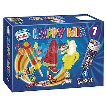 Helados Nestlé Happy Mix, surtido de polos infantiles Pack 7x49 ml