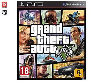 ACCIÓN Videojuego GTA V para PS3. Género: Aventura, acción. Recomendación por edad pegi: +18 - 1 Unidad 18 - 1 Unidad