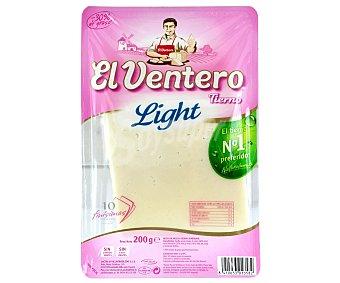 El Ventero Queso tierno light en lonchas  Bandeja 200 g