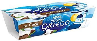 Yogur Griego Nestlé Yogur griego con coco Pack 2x120 g