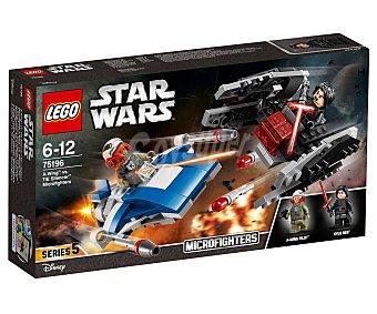 LEGO Star Wars Juego de construcciones con 188 piezas Microfighters: ala-a vs. Silenciador tie, Star Wars 75196 lego Microfighters 75196
