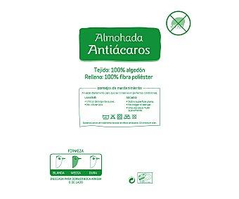 Auchan Almohada sistema antiácaros, 70 centímetros 1 Unidad