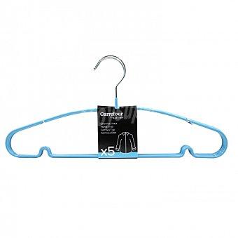 Carrefour Home Perchas para la ropa de Metal 40cm - Azul 1 ud