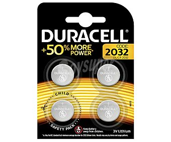 Duracell Pilas tipo dl/cr 2032 Pack de 4