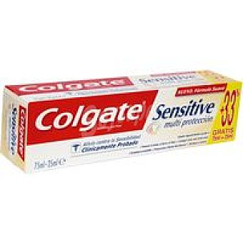 Colgate Sensitive Dentífrico Sensitive multiprotección Tubo 75 ml + 33%
