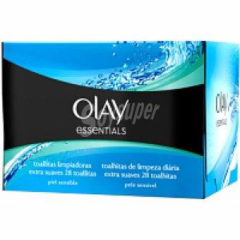 Olay Essentials toallitas limp.extrasuaves piel sensible o 28 UDS