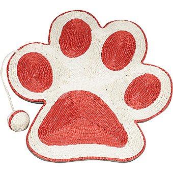 ARQUIVET Rascador para gato con forma de huella color coral con raton medidas 40x36 cm 1 unidad 1 unidad