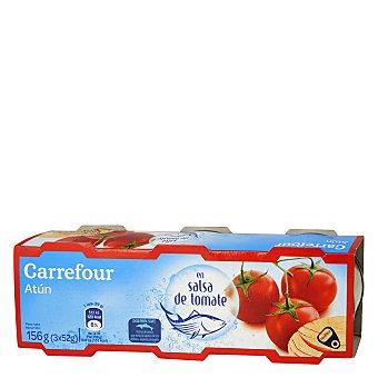 Carrefour Atún con tomate Pack de 3x52 g