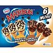 Mini cono con helado de vainilla y brownie y chocolate y brownie estuche 360 ml 6 unidades Maxibon Nestlé
