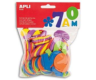 APLI Bolsa de 120 números de goma eva de diferentes colores 1 unidad