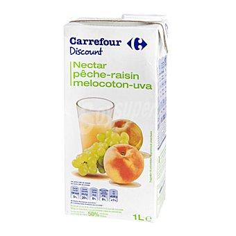 Carrefour Discount Néctar de melocotón y uva Brick de 1 l