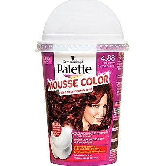 Schwarzkopf Palette Tinte nº 4.88 Rojo Intenso coloración Mousse Color permanente con brillo intenso envase 1 unidad con perfume afrutado Envase 1 unidad