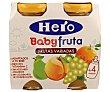 Zumo de fruta (naranja, melocotón, pera y uva) , a partir de 4 meses 2 uds de 130 gr Hero Baby