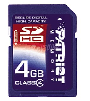 Patriot Tarjeta memoria micro sd 4GB patriot