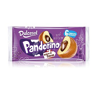 Dulcesol Pandorino relleno de cacao Bolsa 6 u (360 g)